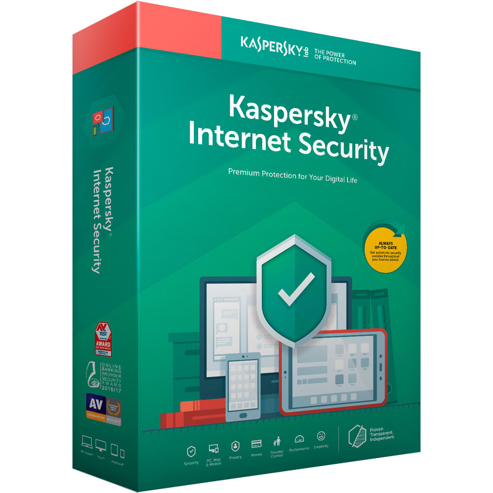 Antivirus Kaspersky Internet Security 1 Dispositivo Por 2 Años