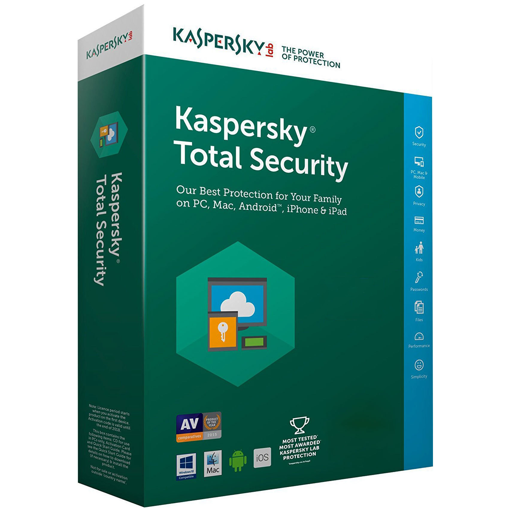 Antivirus Kaspersky Total Security  5 Dispositivos Por 1 Año