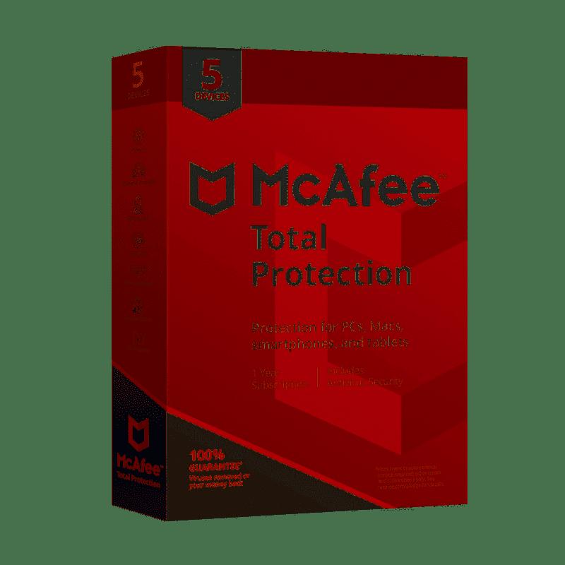 McAfee Total Protection 3 Dispositivos por 1 año